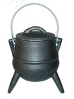 Cauldron, Pot, Cast Iron, Smudge, 1317, Ritual, Camping, Poddha