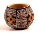 Andes, Peru, Fair Trade, Bowl, Gourd, Chacana, Cross, Inca, Handcarved